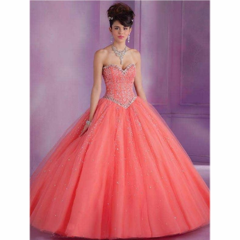 New-Coral-Peach-Quinceanera-Dresses-Ball-Gown-2016-Custom-Crystal-Vestidos-De-15-Anos-Sweetheart-Quinceanera