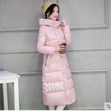 Brieuces New Hooded Winter Coats Women Winter Jackets Under Knee Long Parka Female Padded Outwear Wadded abrigos mujer invierno