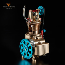 Full Metal Assembling Single cylinder Gasoline Engine Model Building Kits Collection Researching Industry Study / Toy / Gift full metal assembled single cylinder gasoline engine model building kits for researching industry learning studying toy gift