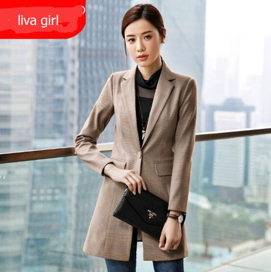 Weekeep Women Blazers And Jackets Ladies Blazers And Coats Plus Size Office Work  Women's Blazers Plaid Fashion Business Suit
