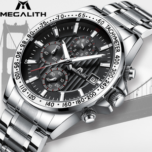 Image 2 - MEGALITH Drop Shipping Mens Watches Top Brand Luxury Full Steel Quartz Clock Male Army Military Watches Men Relogio Masculino