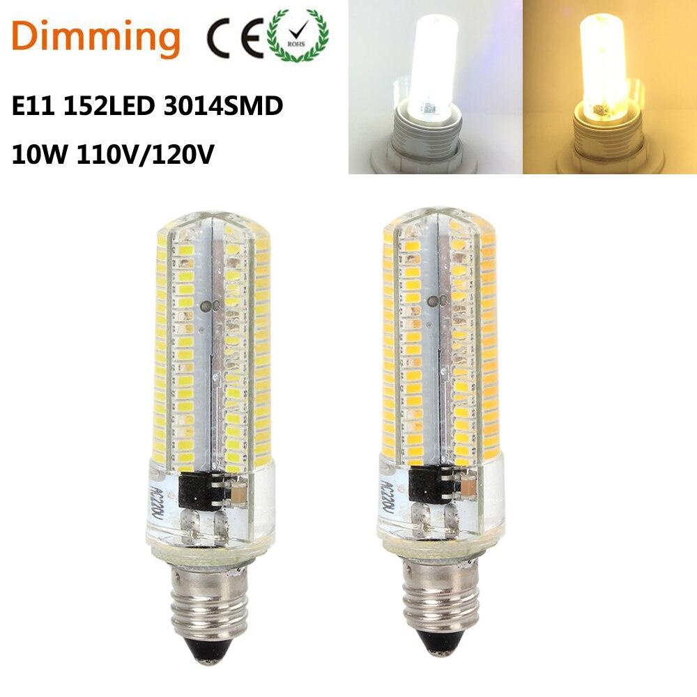 Us 14 9 Dimmable E11 Led Bulb 152leds Smd3014 E11 Led Lamp 110v 220v 230v Corn Light Ultra Brigh Led Light Mini Led High Lumen 5pcs Lot In Led Bulbs