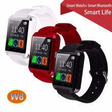 100% Original Gooweel W8 Bluetooth Smart Uhr Sport für iPhone 4/4 S/5/5 S/6/6 + Samsung S4/Note/s6 HTC Android Phone Smartwatch
