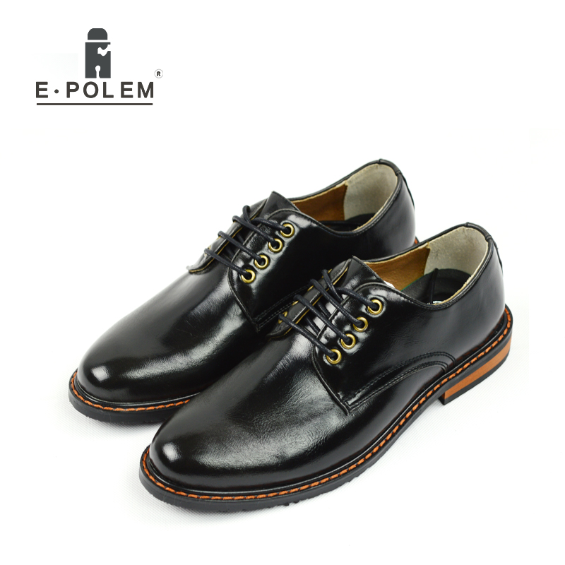 Hot Sale Black And Brown Low Help Men font b Oxfords b font Leather Shoes Spring
