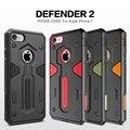 Nillkin originais caso defensor 2 para iphone 7 4.7 polegada 2 em 1 tpu pc armadura à prova de choque capa capa de couro para apple iphone 7