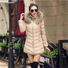 Tyjtjy Vestidos Мода 2017 г. зимняя куртка женская парка косой молнией с капюшоном длинные женские зимние куртки и пальто Mujer S-4XL