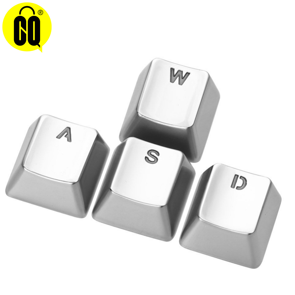 For Mechanical Keyboard MX Axis Metal Keycaps Pervious To Light Keypress WASD ARROW Zinc Alloy Key Cap Light Transmission