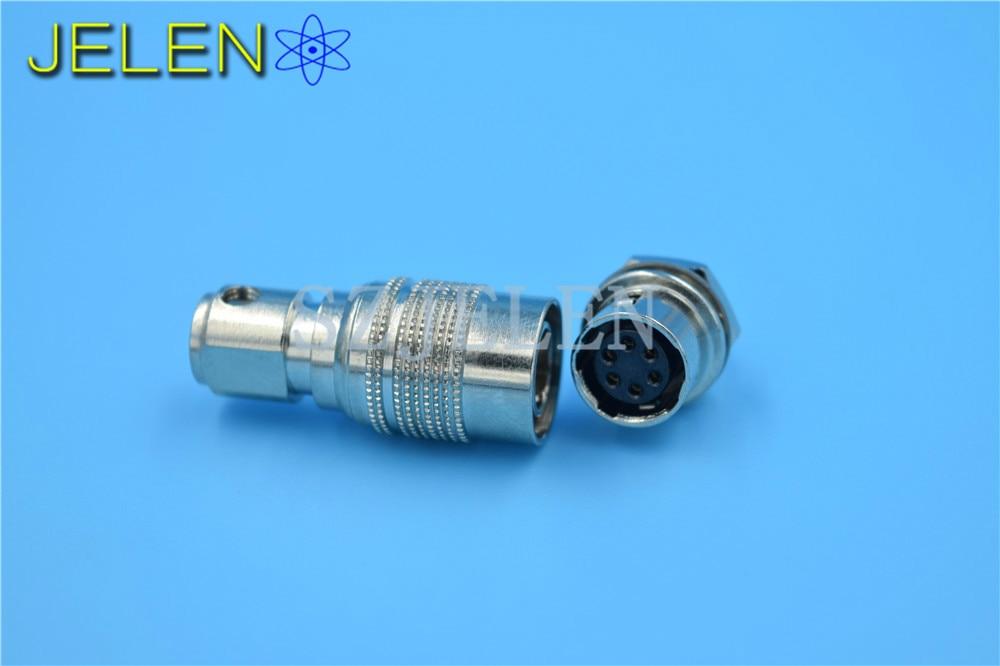 Hirose connector 6-pin,HR10A-7P-6P(73) / HR10A-7R-6S , Red camera connector, Topcon power connector, cable connector plug socket connector hr10a 7p 6p 73