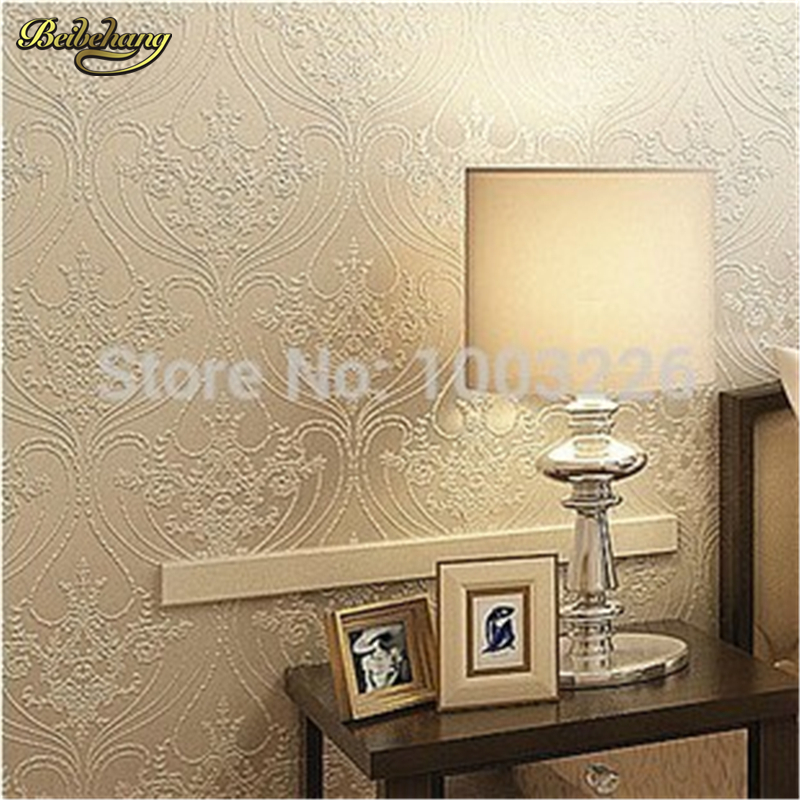 beibehang 3d wallpaper Vintage Cream Gilt European French Flocking Non Woven Classic Wallpaper Wall paper Roll  papel de parede trait d union level 2 cahier de lecture ecriture french edition