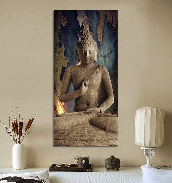 Merveilleux 1 Home Decor Wall Hanging Art Paintings Oriental Buddha Statue Digital  Pictures Canvas Spray Painting(