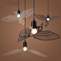 Nordic Modern Minimalist Dining Room Pendant Lights American Creative Personality Children Room Study Flying Bird Pendant