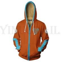 Sweatshirts Men and Women Zipper Hoodies Anime Avatar 3d Print Hooded Jacket for Boys Harajuku Streetwear Cosplay Zip up Hoodie men zip front mixed print jacket