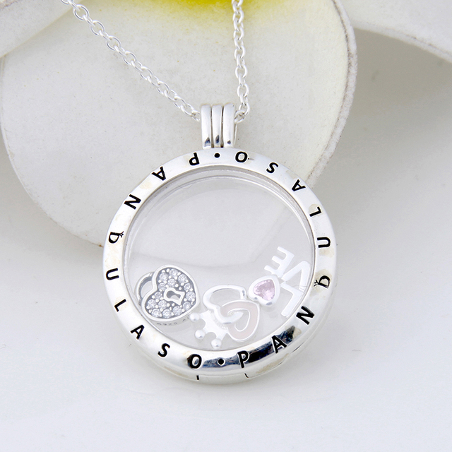 Pandulaso forever hearts floating locket large pendant choker new pandulaso forever hearts floating locket large pendant choker new original 925 silver charm necklaces pendants mozeypictures Image collections