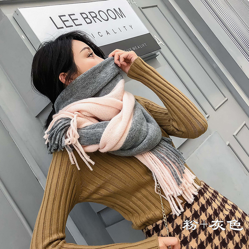 New Autumn Winter Female Wool Plaid Scarf Women Cashmere Scarves Wide Lattices Long Shawl Wrap Blanket Warm Tippet Drop Ship