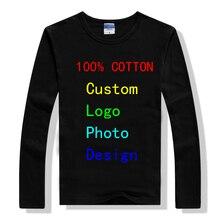 52efdc1e839 2018 advertising Logo Mens T Shirts Personalized Tshirts Long Sleeve Clothes  Camisa Masculina Cotton T-