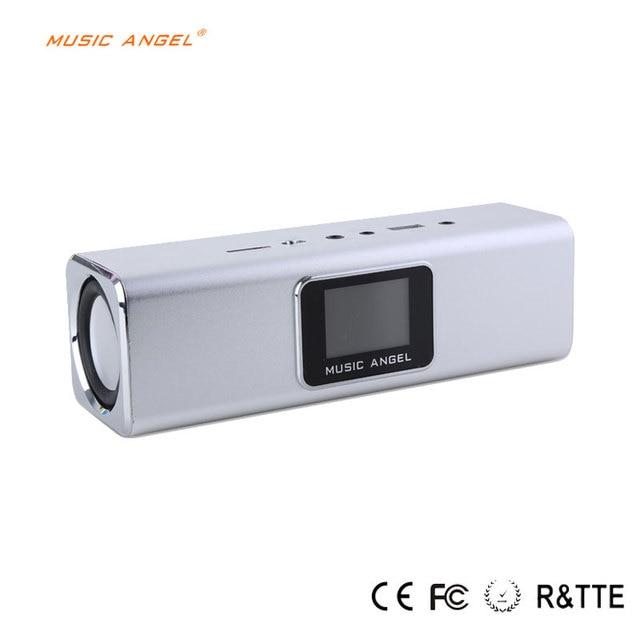 multilingual speaker Music Angel Portable Digital Speaker Ourdoor Support Usb Micro-sd Fm Radio Uk5B Sliver and Black in stock