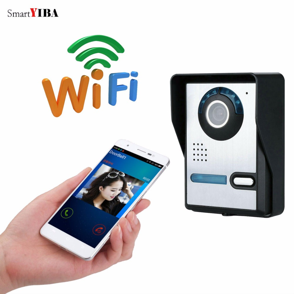 SmartYIBA WIFI Video Door Phone System Door Intercom Entry System Android&IOS APP Smart Video Doorphone Wireless Doorbell 2016 new wifi doorbell video door phone support 3g 4g ios android for ipad smart phone tablet control wireless door intercom