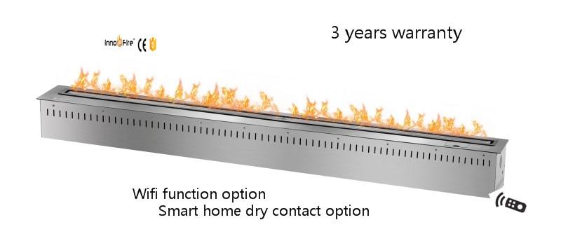 60 Inch Remote Control Wifi Silver Ethanol Electric Decorative Fireplace Mantel