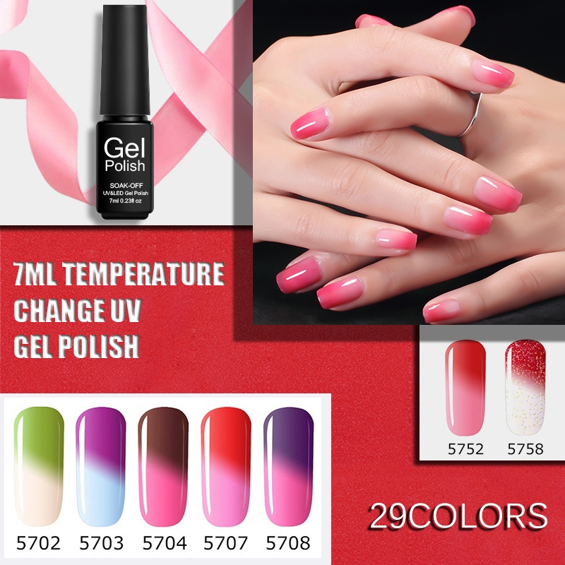 Aliexpress Paraness Lucky Uv Gel Nail Polish Soak Off Kits For The Varnish Art Temperature Change Color Lacquers From Reliable