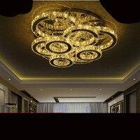 Living Room Lamp Circular Atmosphere Home Ceiling Lamp Led Creative Crystal Lamp Simple Modern Restaurant Lamp
