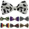 1 peça Mens Womens Unisex Estrela Floral Verifique Tuxedo Bow Tie Imprimir Bowtie Gravatas