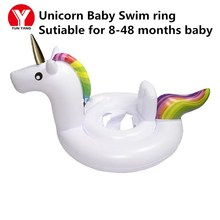 Baby SWIMMING RING UNICORN Float Eco-friendly PVC Inflatable BABY Seat Unicorn Pool Water Fun Toys