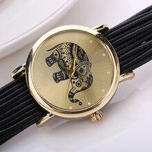 Wholesale Women's Elephant Dial Multi Layers Chain Braided Wrap Bracelet Wrist Watch C2K5W