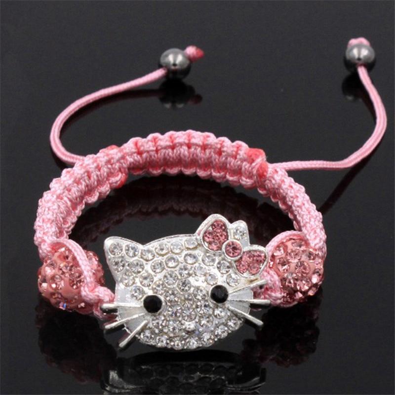 1 Pcs Shambhala Kind Kat Hoofd Braceletchildren Dag Geschenken Zoete En Mooie Sieraden Beschikbaar In Verschillende Uitvoeringen En Specificaties Voor Uw Selectie