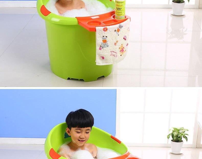 ᗔSuper big baby bath tub bath tub children thick insulation barrels ...