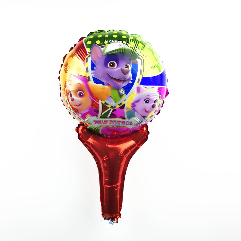 Free Shipping New 1pcs hand-held dog patrol aluminum balloon children's toys par