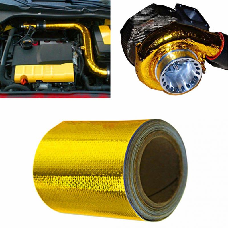 """Black Graphite Exhaust//Header Heat Wrap 2/"""" x 33/' Roll With Stainless Ties Kit"""