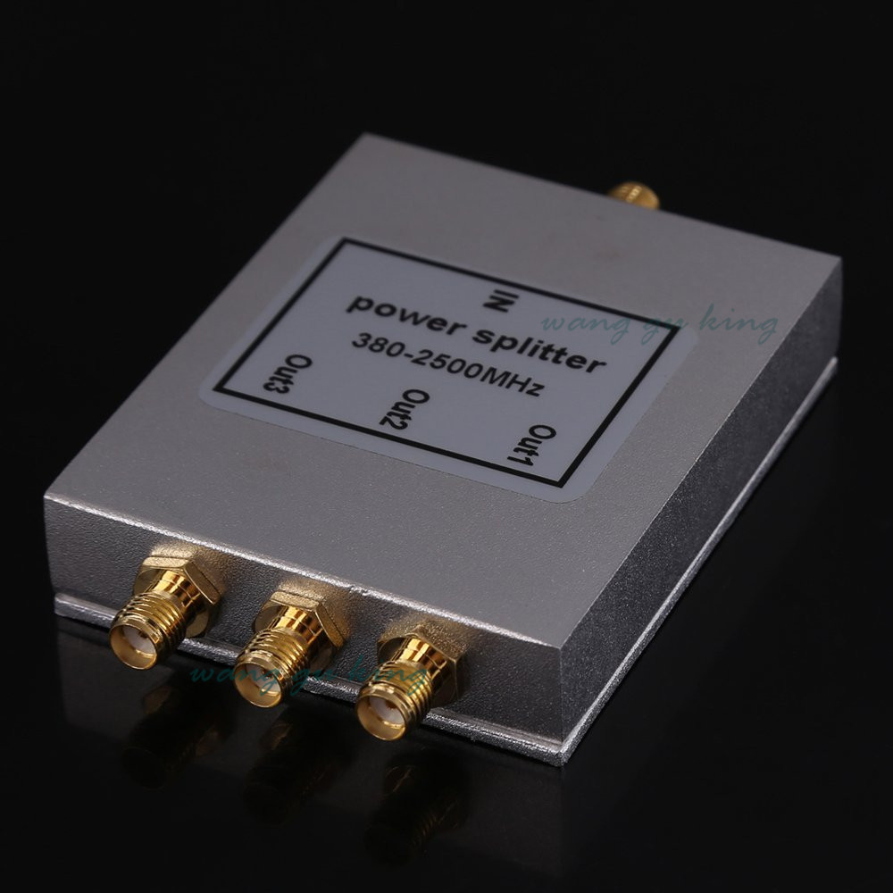 1PCS 380~2500MHz N 3-way RF Power Divider/Splitter For GSM&CDMA&DCS Cellphone Signal Booster Repeater