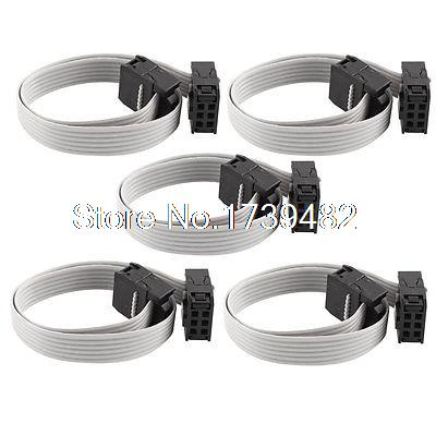 5 Pcs 20cm IDC 6 Pin Hard Drive Extension Wire Flat Ribbon Cable for Motherboard 0 2m ide hard drive ribbon cable 44 pin ide female to female f f extension data ribbon cable line dual device brand new