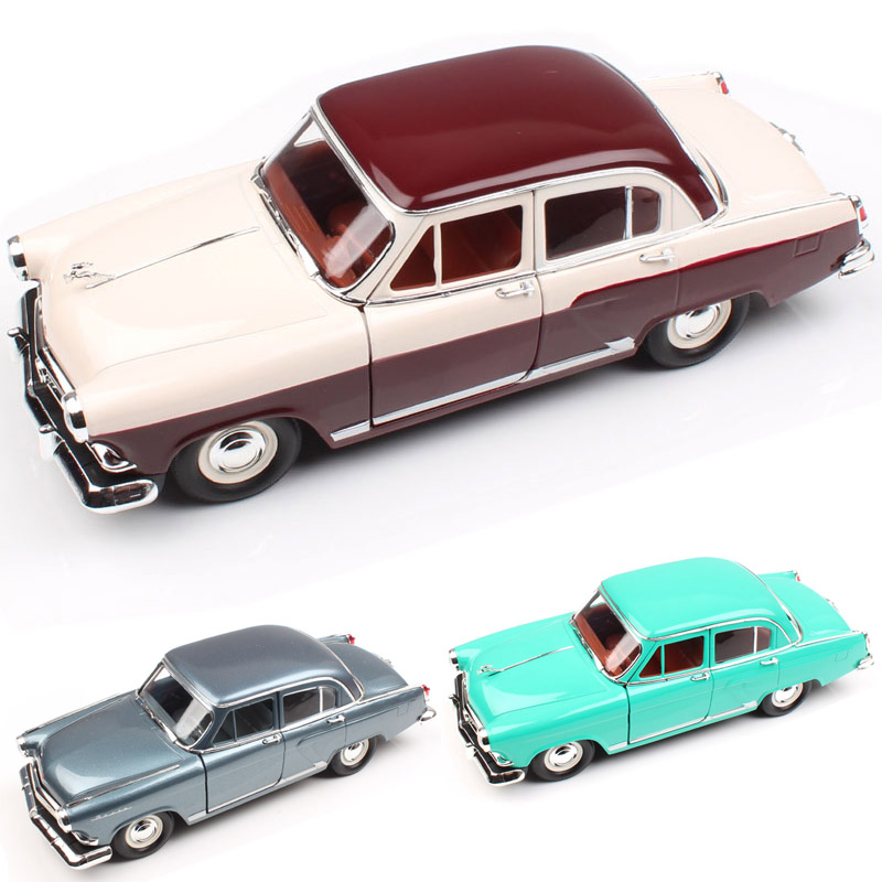 1/24 Scale Russia USSR Gorkovsky Gorky GAZ M21 Volga 1957 Luxury Vintage Automobile Metal Die Cast Model Miniature Car Toy Kids