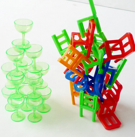 Baby balance chair gaming stacking cup game plastic stack deskchair teacup children classic play tileup room furniture education