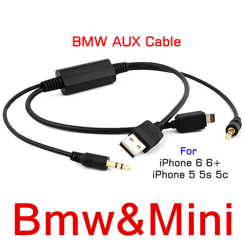 High Quality Car Audio Usb Aux Adapter Interface Y Cable Music Wire For Bmw Mini Cooper For
