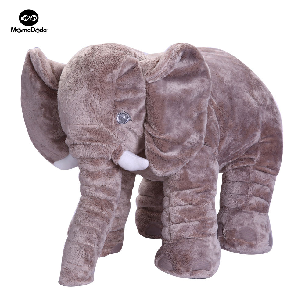 Baby Elephant Plush Toy Elephant Baby Pillow For Children Crib Foldable Kids Dolls Seat Cushion Babies Newborn Photography Props  high quality crocodile elephant pillow cute animal shape cotton cushion cartoon baby children pillow kids toy free shipping