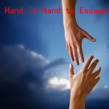 human bridge, hand in hand to escape the chamber, intresting and magic body bridge of Takagism game party escape game props