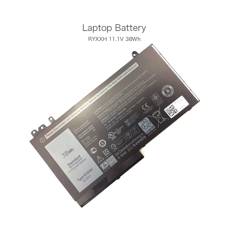 11.1V 38Wh RYXXH 100% Original Laptop Battery for Dell Latitude E5450 Latitude E5550 Latitude 12E5250 Latitude 12 E5250 Computer