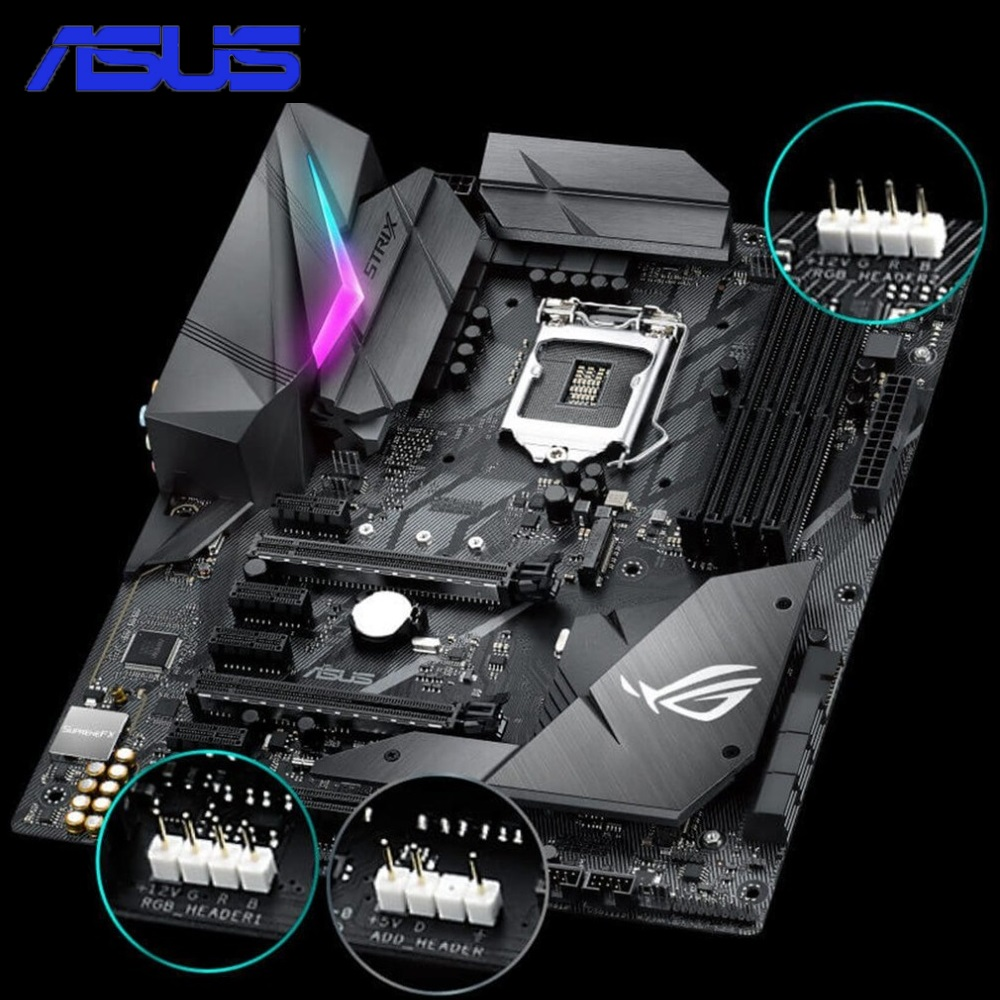 ASUS ROG STRIX Z370-F GAMING Z370 ATX Motherboard Support DDR4 4000MHz Dual M.2 SATA 6Gbps LGA1151 Socket Mainboard rog strix x299 xe gaming x299 atx motherboard 802 11ac wi fi ddr4 dual m 2 sata 6gbps usb3 1 desktop mainboard