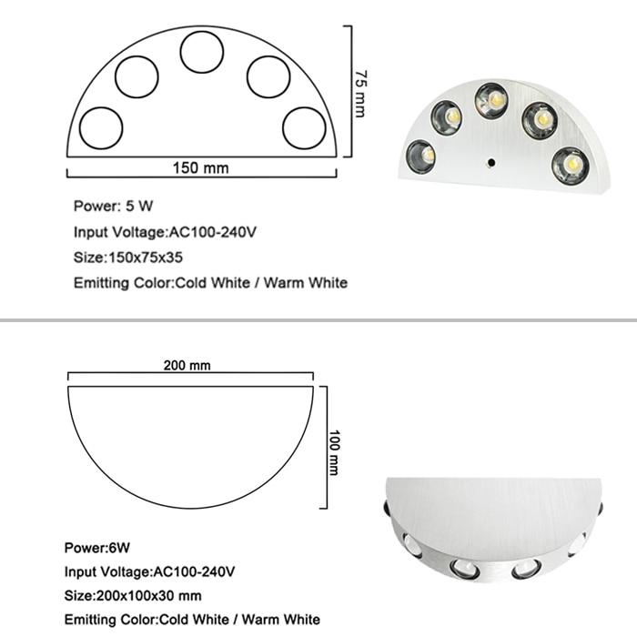 LED Sconce Səthi quraşdırılmış 5W 6W Divar Çırağı Daxili - Daxili işıqlandırma - Fotoqrafiya 6