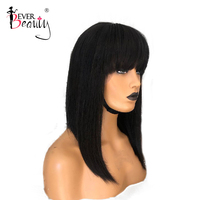 13x6 Short Blunt Bob Lace Front 100% Real Human Hair Wigs For Women Black Straight Deep Part Lace Frontal Wigs Ever Beauty Remy