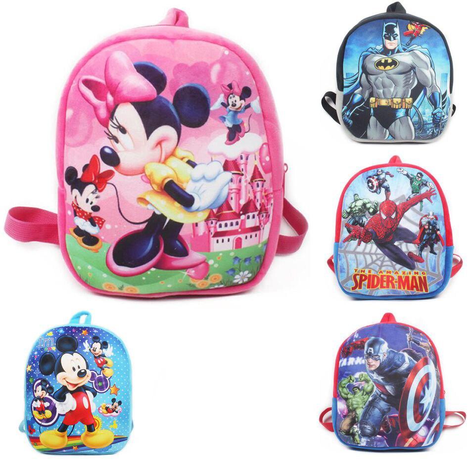 Cartoon Plush School Backpack For Kids Mickey Minnie Students In School Bags Children Backpacks Mochila Infantil