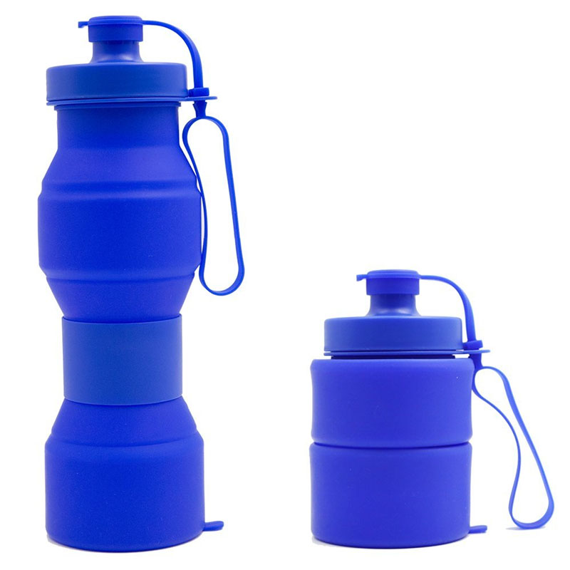Sports Collapsible Water Bottle,Folding BPA-Free Silicone Water Bottle for Traveling,Camping,Hiking,Walking,Running