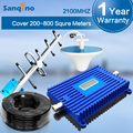 Sanqino 3G Repeater 2100 UMTS Mobile Repeater 70dB Gain Signal Booster LCD Display Amplifier 2100MHz Repetidor Yagi Kit 3G