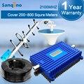 Sanqino 3G Repetidor 2100 Pantalla LCD Amplificador de Ganancia Amplificador de Señal de 70dB UMTS Repetidor Móvil 2100 MHz Repetidor Kit Yagi 3G