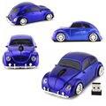 Único Rato Carro VW Beetle Clássico 2.4G Mouse sem fio USB Óptico Camundongos jogo The Beatles Confortável 3D Car Mouse para PC Laptops