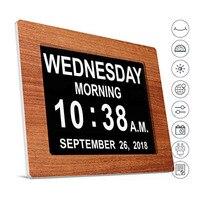 Очень большой цифровой будильник светодиодный с календарный день-сократил время и дата настольные часы для пожилых людей Desktop стол часы 8