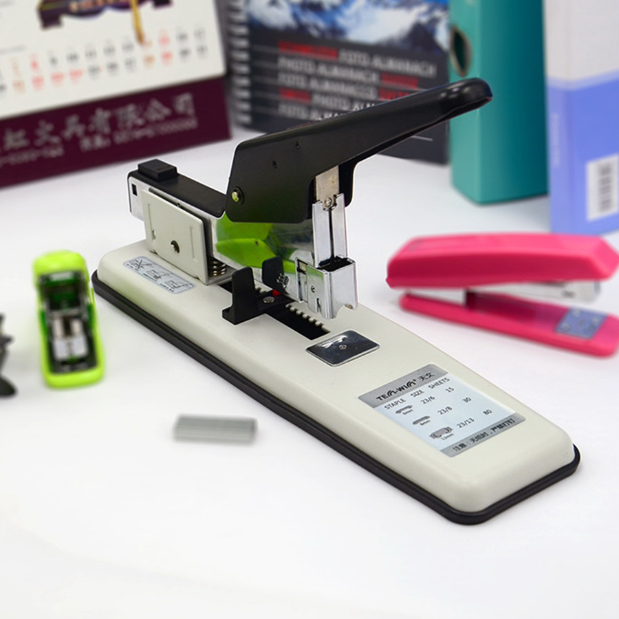 TEN-WIN heavy-duty stapler large size thick layer labor-saving office stapler stationery can be set 100 page ten wow 188g 2 page 2