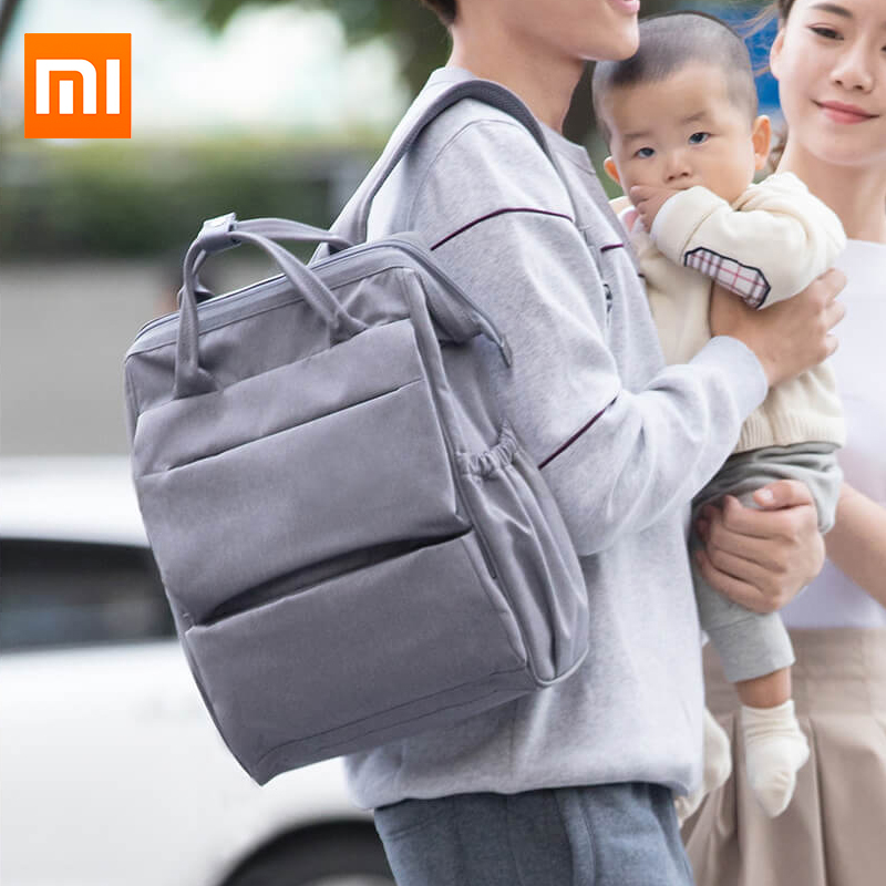 Original Xiaomi multifunción bolsa de pañales para bebé bolsa de alimentación bottler mochila 20L bolsa de aislamiento de leche incorporada para viaje de Madre Padre-in Bolsas y fundas de ordenador portátil from Ordenadores y oficina on AliExpress - 11.11_Double 11_Singles' Day 1